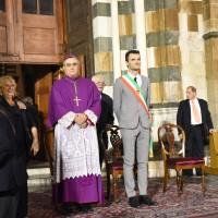 Il vescovo Agostinelli e il sindaco Biffoni