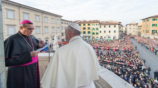 Agostinelli e Papa Francesco