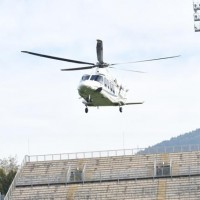 Elicottero ormai prossimo all'atterraggio