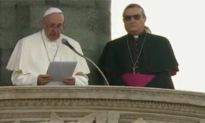 Papa Francesco parla ai pratesi