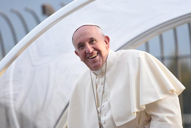 Un bel sorriso del Papa