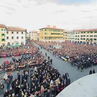 Una vista della piazza