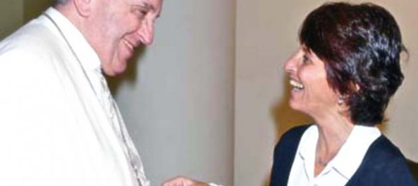 Papa Francesco e Tiziana Lupi