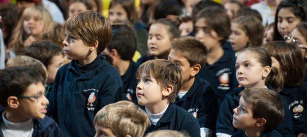 Bambini delle scuole cattoliche