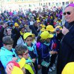 Il Big Piano in piazza Duomo per la Festa delle scuole cattoliche